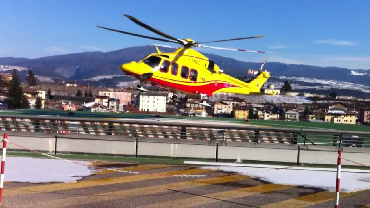 Elicottero 118 : Partenza elisoccorso augusta trentino emergenza decollo