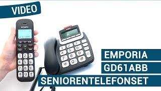 Produktvideo zu Emporia GD61ABB Großtasten-Telefonset