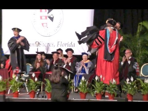 Shaq graduates from Barry University  Picks up his Professor! in HD