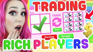 I Only Traded The *RICHEST* Players In Adopt Me.. This Is What I Got! (Roblox)