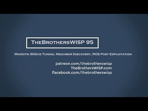 TheBrothersWISP - Networking podcast geared towards wireless