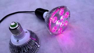 Светодиодная лампа для растений 27Вт (Cree)(Светодиодную фитолампу можно приобрести по ссылке: http://svet-line.com.ua/index.php?route=product/product&path=75_77&product_id=760 Лампа..., 2015-12-20T18:57:55.000Z)