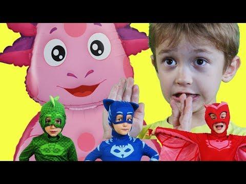 Герои в масках и уменьшитель ПРИКЛЮЧЕНИЯ ДАВИДА Кетбой и PG masks спасают Лунтика ВИДЕО ДЛЯ ДЕТЕЙ