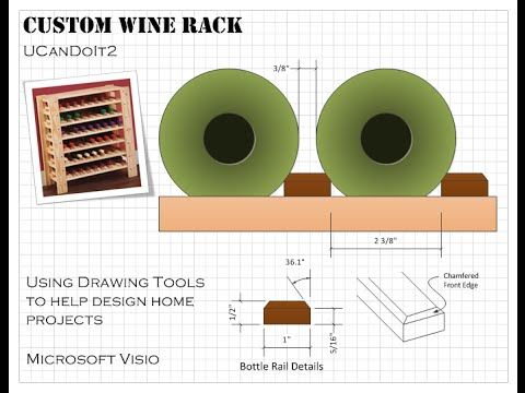 Wine Rack 01 - Custom Design with MS Visio