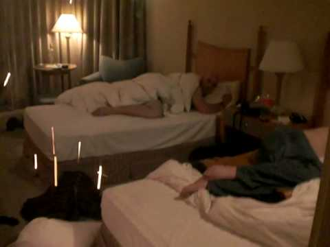 roman candle in hotel room
