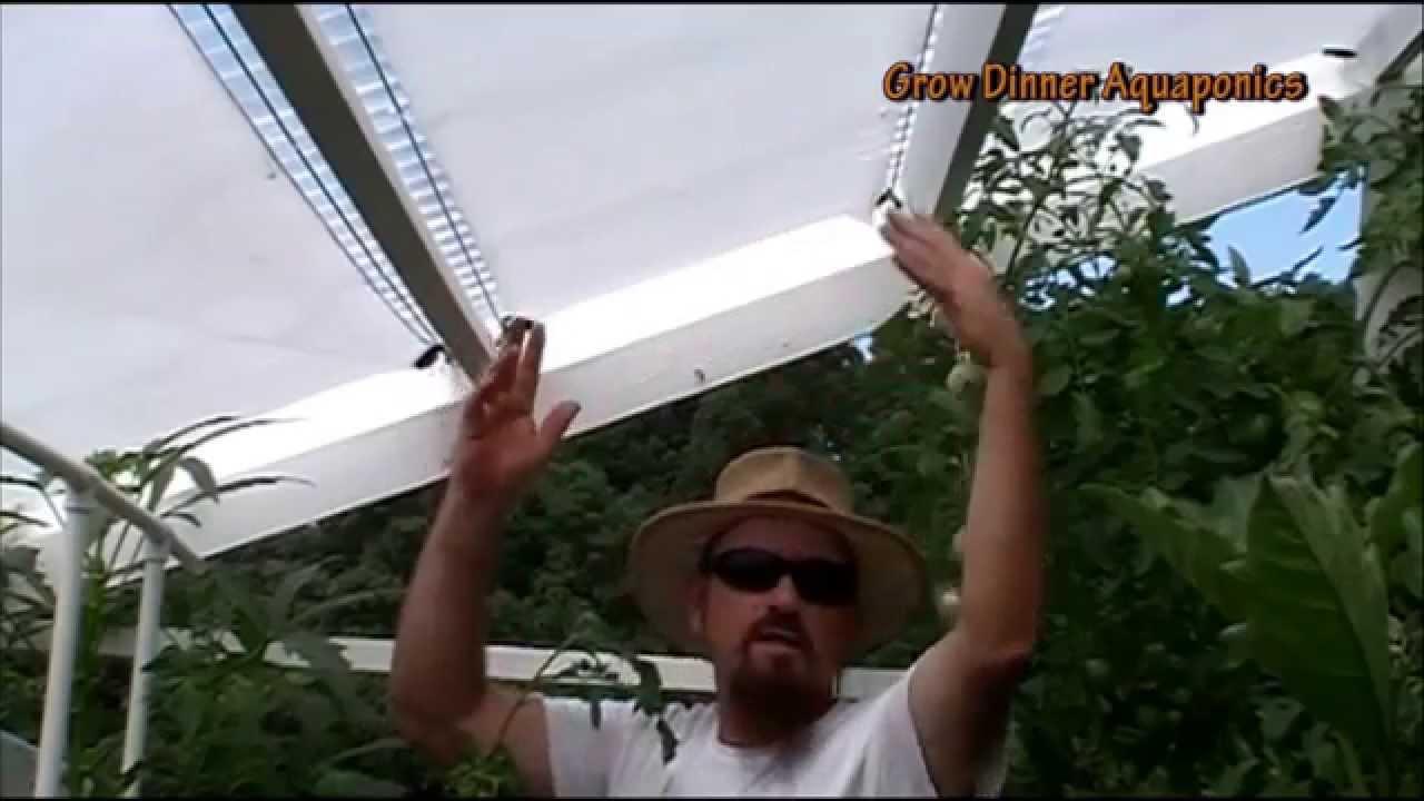 Diy Retractable Shade Cover 4 Aquaponics Greenhouse 2 Beat Heat You