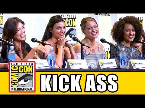 WOMEN WHO KICK ASS Comic Con - Ming-Na Wen, Nathalie Emmanuel, Melissa Benoist, Tatiana Maslany
