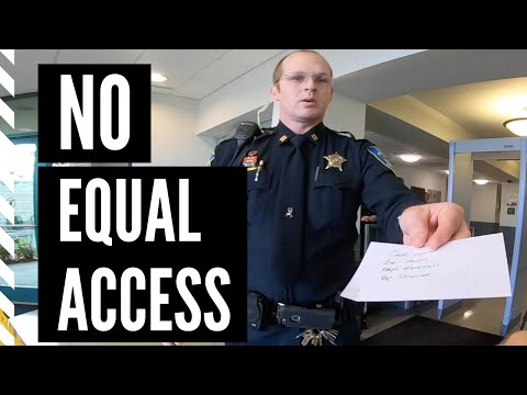 Courthouse security breaks federal law and disregards US Constitution