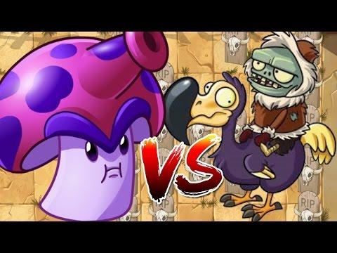 Plants vs Zombies 2 Epic Hack : Spore-Shroom Ultra Fire vs Dodo Rider