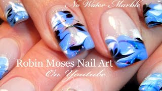 No Water Needed - Drag Marble nail art Tutorial
