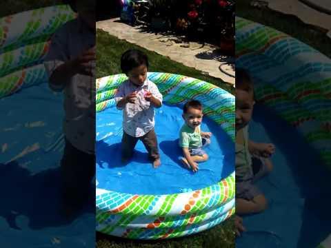 Easter egg hunt, surprise eggs, pool fun, jumbo surprise eggs