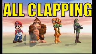 Smash Bros Brawl: All Clapping Animations (No Contest Screen)