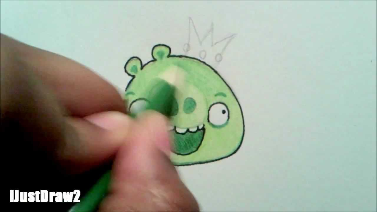 HOW TO DRAW KING PIG FROM ANGRY BIRDS