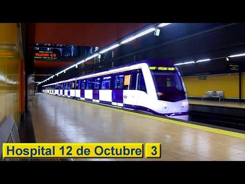 Metro de Madrid : Hospital 12 de Octubre L3 ( Serie 3000 )