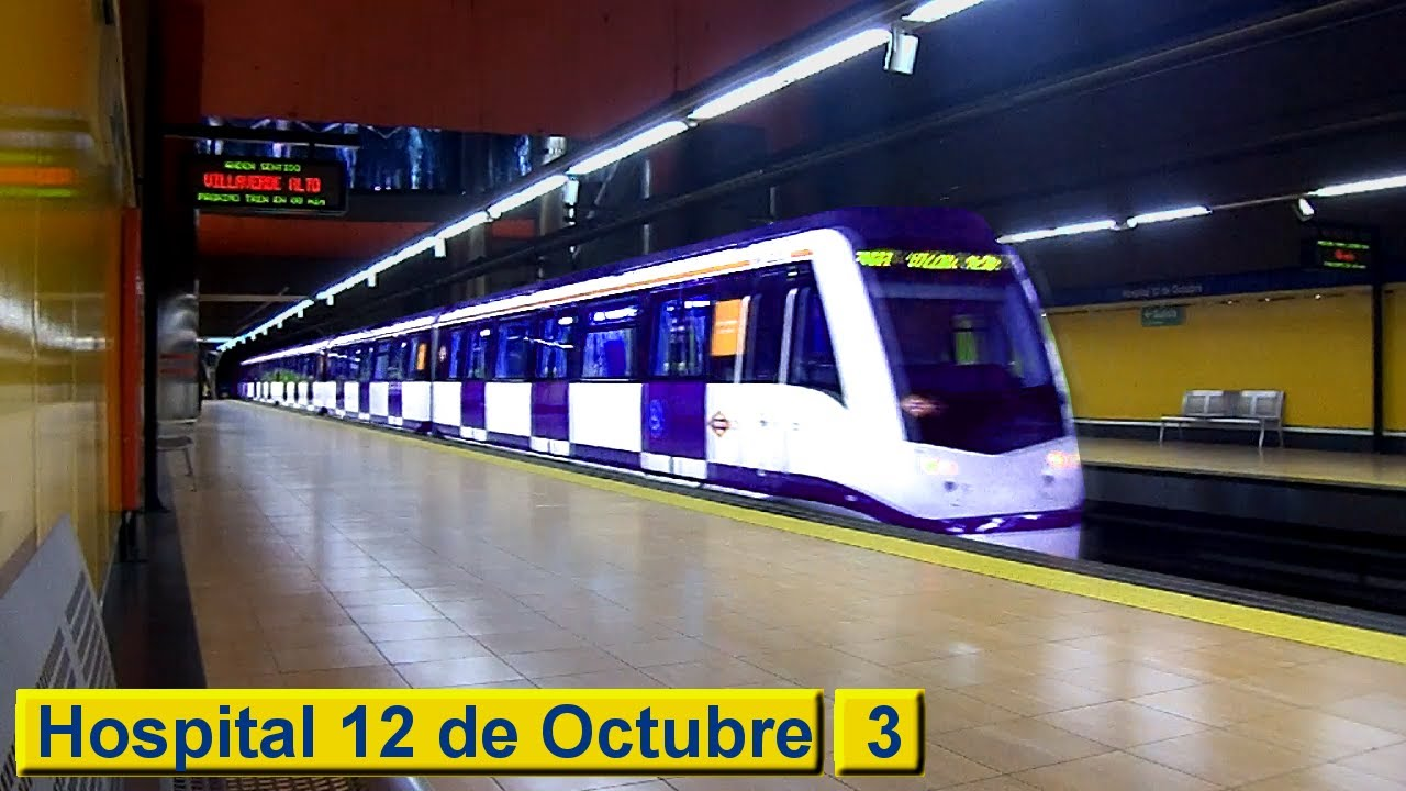 Madrid metro hospital 12 de octubre line 3 class for Hospital de dia madrid