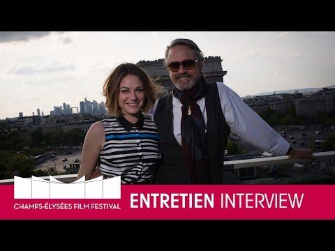 CEFF2015  Émilie Dequenne & Jeremy Irons  Entretien
