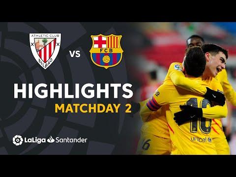 Highlights Athletic Club vs FC Barcelona (2-3)