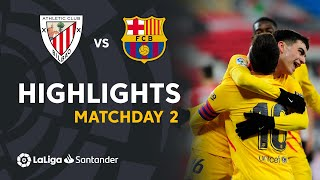 Highlights Athletic Club vs FC Barcelona (2-3)
