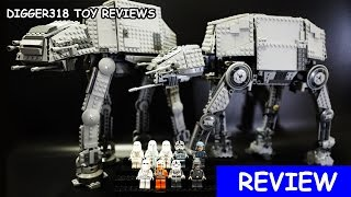 Lego 10178 75054 Star Wars Motorized Walking AT AT Lepin Bootleg 05050 05051 Review