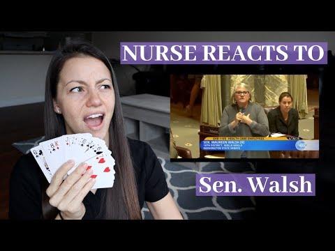 Nurse Reacts to Senator Maureen Walsh Playing Cards Video