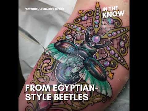 93290b4c86ec4 Dazzling gemstone tattoos have a 3D glimmer - YouTube