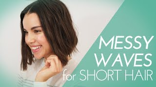 Messy Waves with a Flat Iron! Hair Tutorial | Ingrid Nilsen