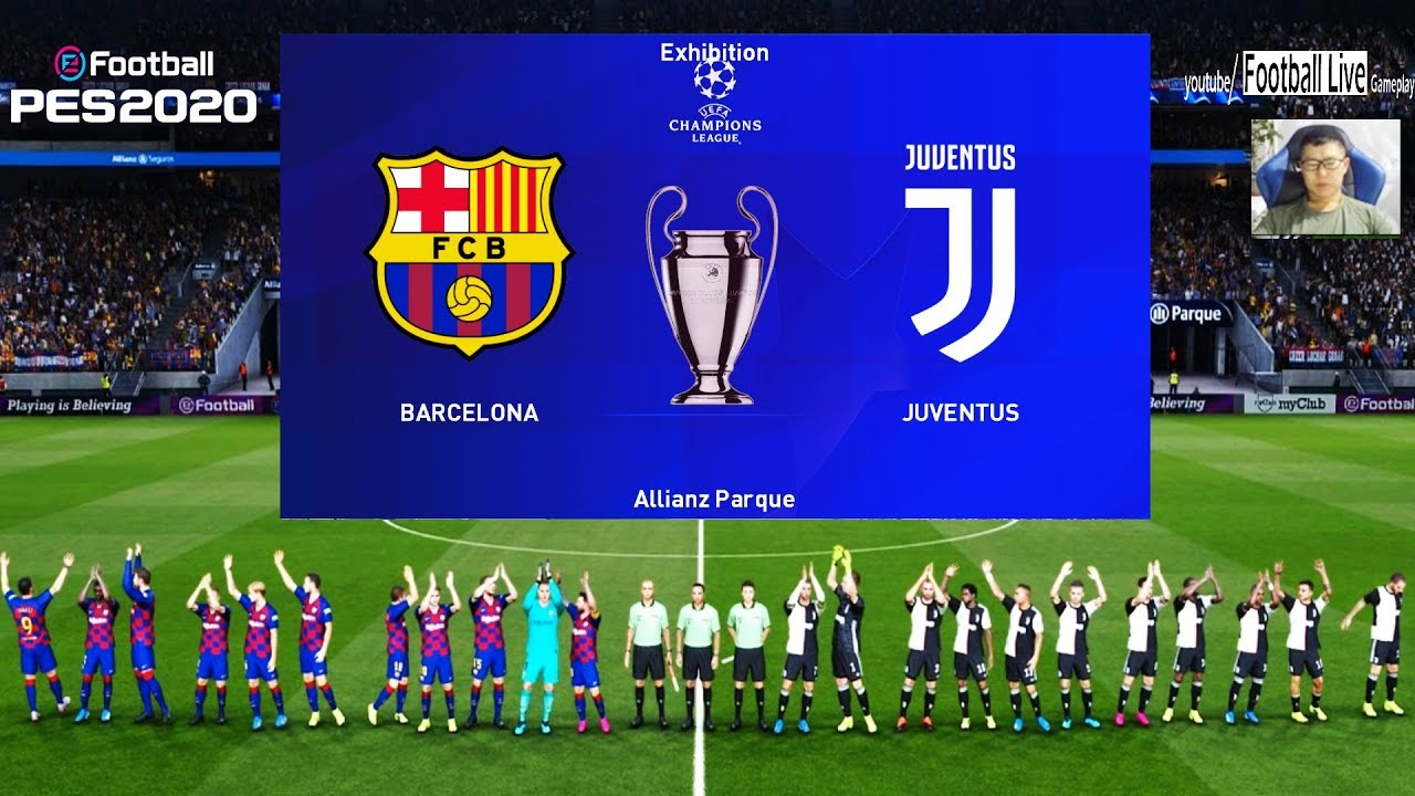 Pes 2020 Fc Barcelona Vs Juventus Fc Uefa Champions League Ucl Gameplay Pc Youtube