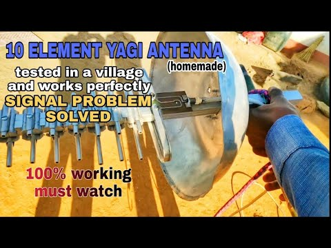 DIY 10 element yagi antenna for cellular networks, 2g,3g ...