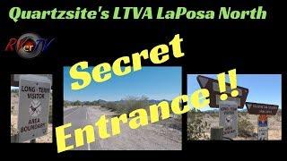 "Quartzsite ...""Secret Entrance""... La Posa North LTVA BLM Boondocking Camp Area ...RV Life"