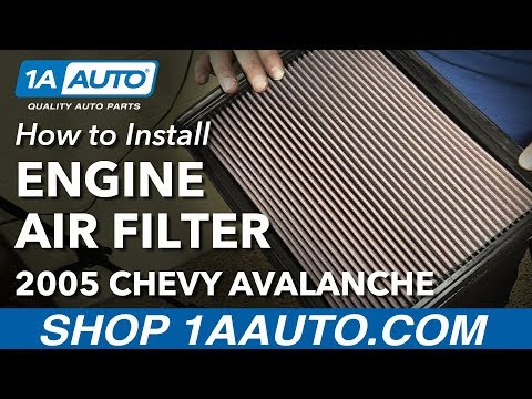 How to Install Replace Engine Air Filter 2005 Chevy Avalanche