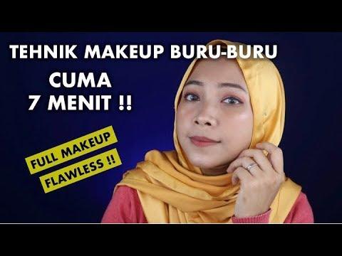 TUTORIAL MAKEUP BURU-BURU CUMA 7 MENIT FULL MAKEUP + FLAWLESS thumbnail