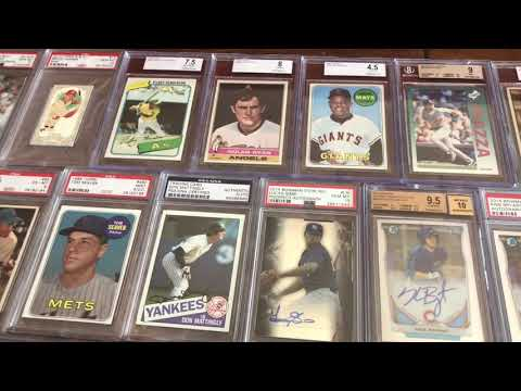 Insane Baseball Card Display On My Dining Room Table!!!!