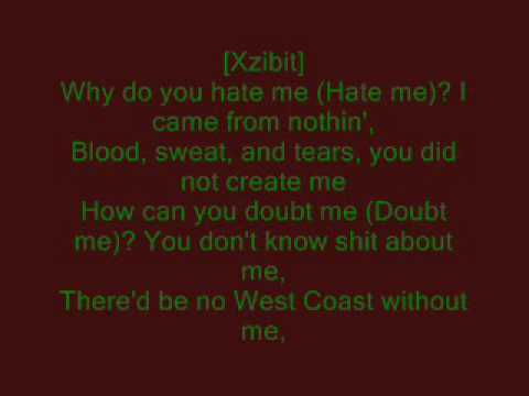 Mix - Xzibit Feat. Eminem & Nate Dogg - My Name lyrics