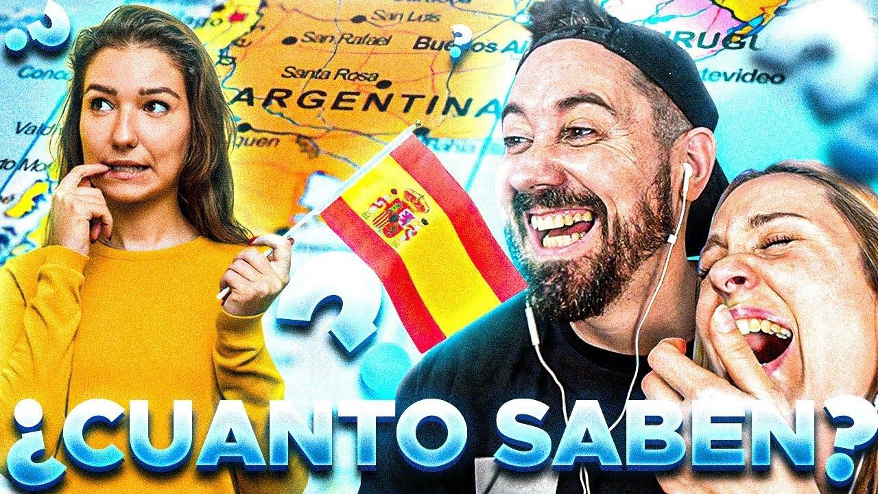 ¿Cuanto saben LOS ESPAÑOLES 🇪🇸 de ARGENTINA 🇦🇷?