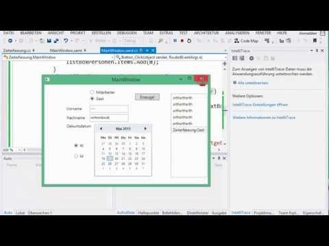04D.3 Zeiterfassung, grafische Oberfläche in WPF; Teil 3 - YouTube