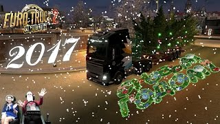 Соний и Алинка везут главную ёлку Нового года! Euro Truck simulator 2 - Новогодний стрим!