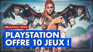 BREAKING NEWS 💥 PS4   PS5 : PlayStation VOUS OFFRE 10 JEUX ! 💥 Toutes les INFOS.