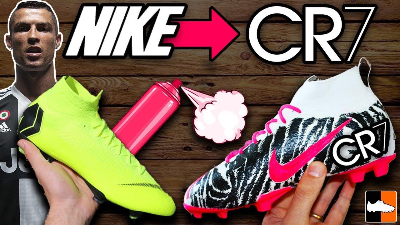How To Hydro Dip Ronaldo's Football Boots! CR7 Soccer Custom