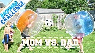 Family Vlog | Mom vs Dad - Family Fun & Backyard Challenge!