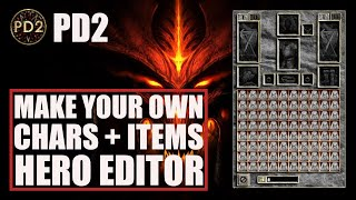 [Project Diablo 2] Test Your Builds Offline! - Make Your Own Lvl99 Character's Items - Hero Editor