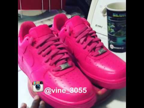 Customize Nike shoes | pink