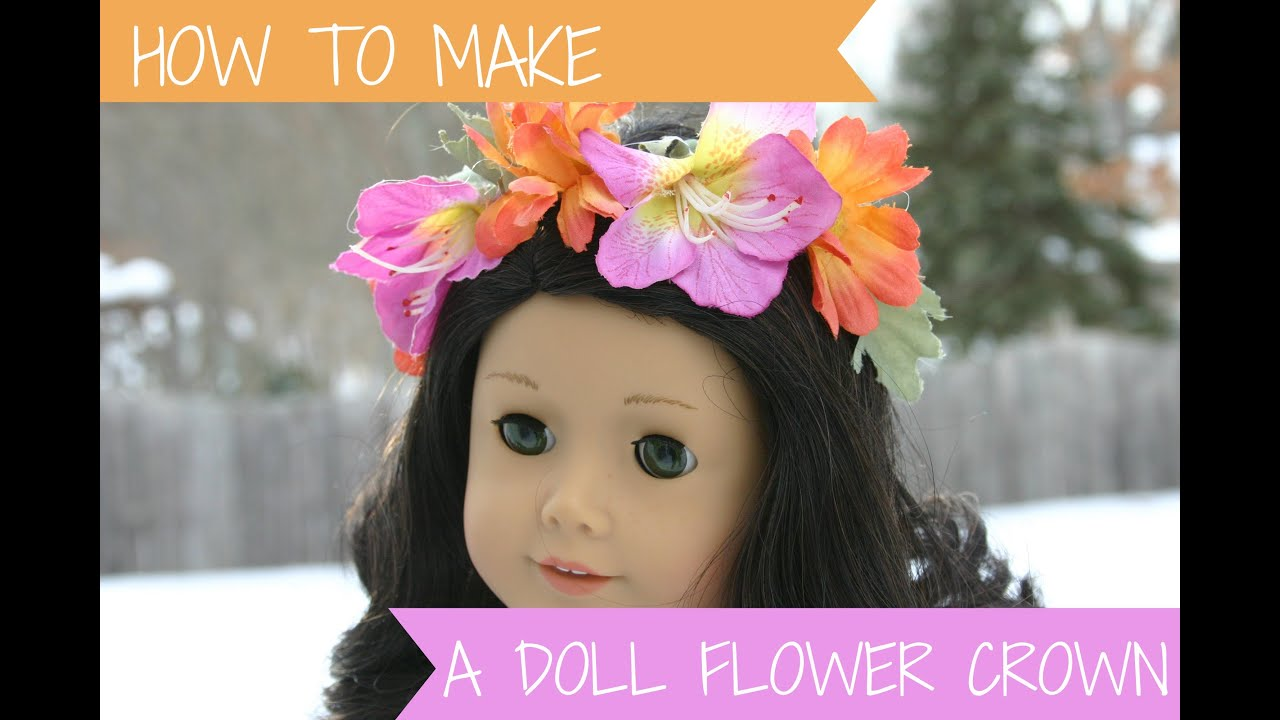 How to make a doll flower crown youtube how to make a doll flower crown izmirmasajfo Gallery