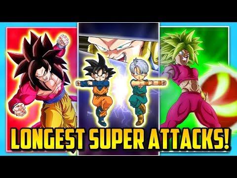 TOP LONGEST SUPER ATTACKS IN DOKKAN BATTLE! | Dokkan Battle List