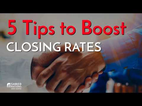 The Top 5 Tips to Boost Your Closing Rates