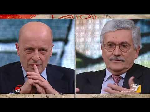 Massimo D'Alema (LeU) si confronta con il direttore de Il Giornale Alessandro Sallusti
