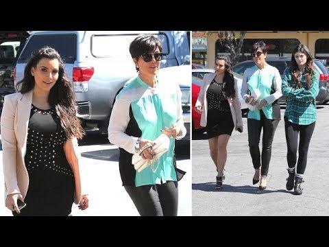 162f1e55d9fa8 Pregnant Kim Kardashian Squeezes Into Skin-Tight Dress To Film KUWTK [2013]