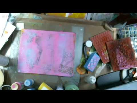 Art Journal - Gellin Art Printing Plate for Beginners