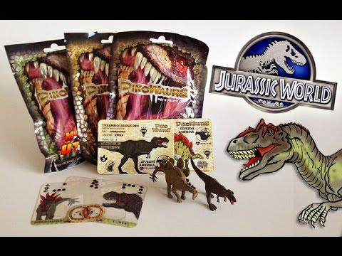 Dinosaur Blind Bags Surprise Toys opening 2 - Jurassic World month!!!