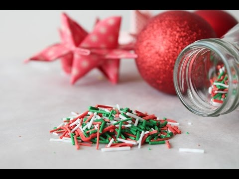 how to make christmas sprinkles by one kitchen episode 334 - Christmas Sprinkles