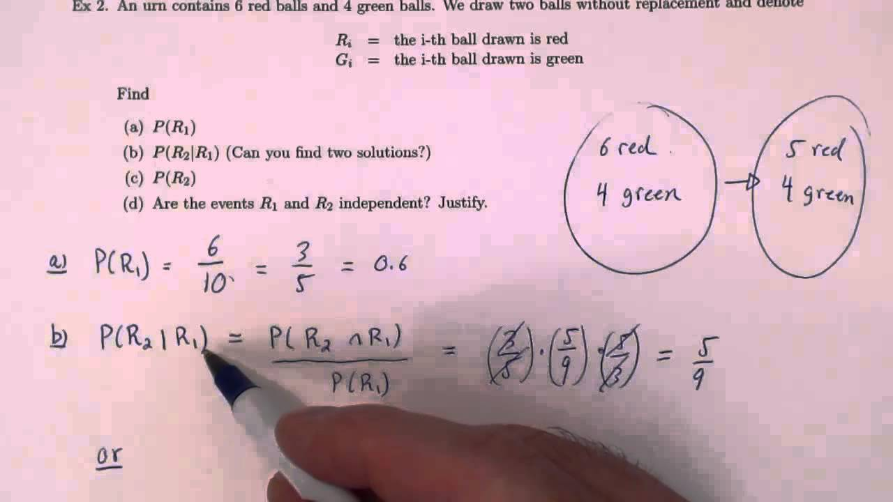 Conditional Probability Example 2 Youtube